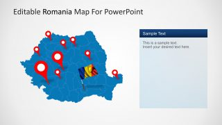PPT Template of Romania Map
