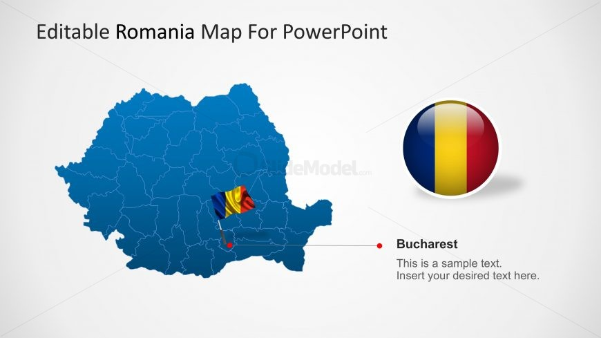 PowerPoint Map of Romania