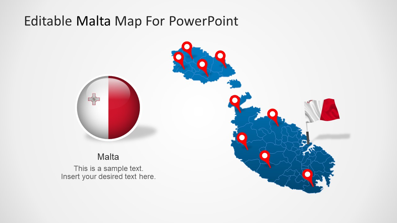 what is a template in powerpoint - malta powerpoint map template slidemodel