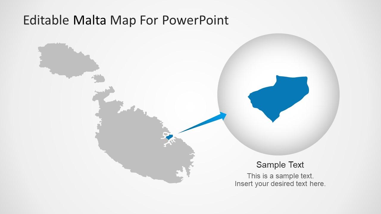 Editable Valletta Geo Location Slides