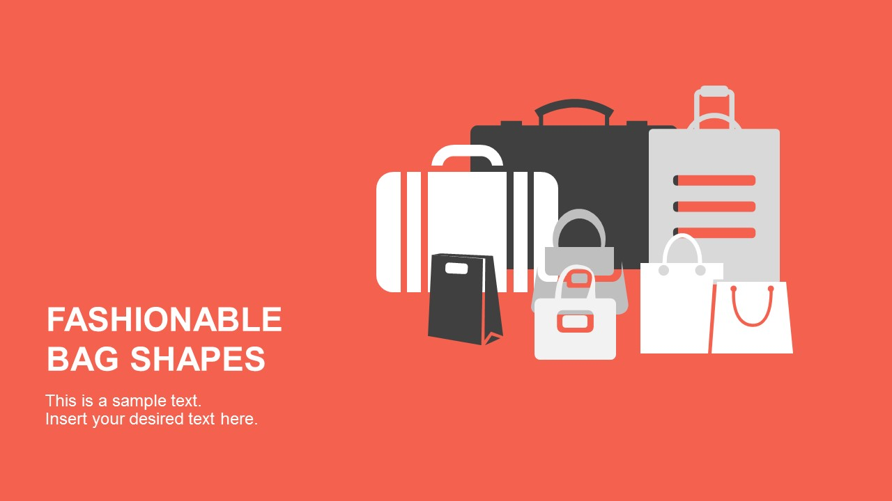 fashionable bag shapes for powerpoint