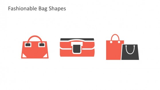 Editable Fashionable Bags Shapes For PowerPoint