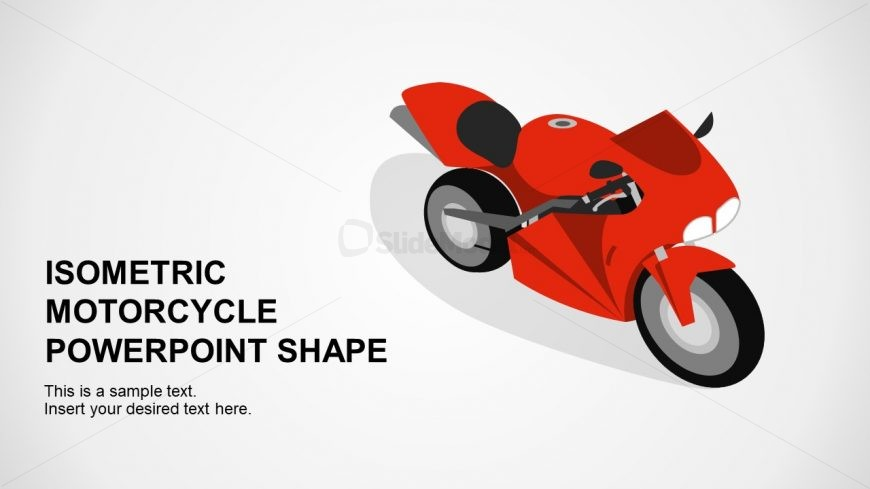 Sport Racing Motorcycle in PowerPoint