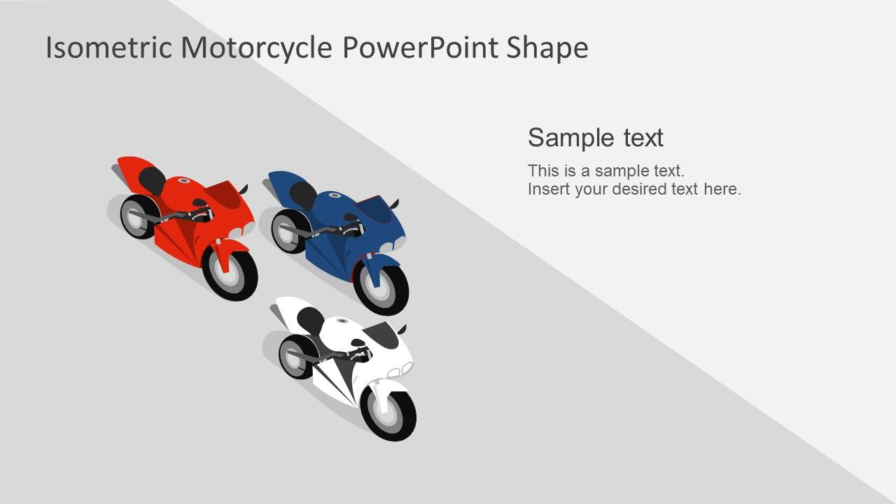 Three Color Motorbikes on Track