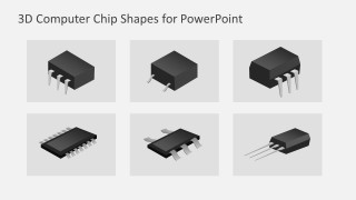 3D Graphic Illustrations of Computer Chips And Semiconductors