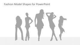 Grey Shadow Pose of Models
