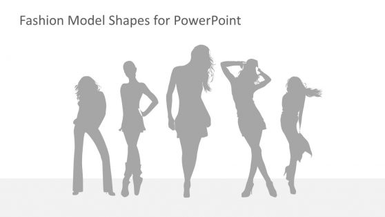 Grey Shadow Pose of Models