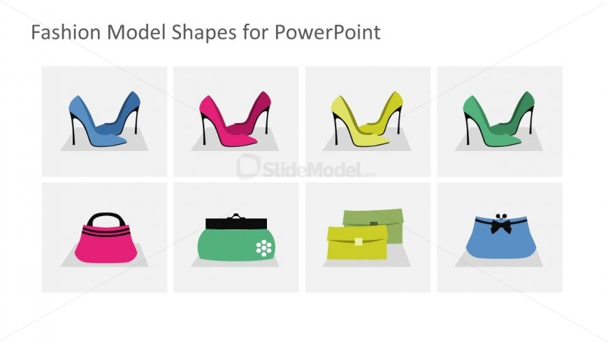 High Heel Shoes and Bags Icons