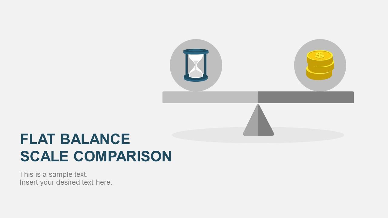 flat balance scale comparison powerpoint template