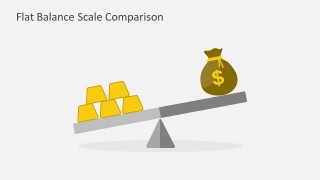 Flat Balance Scale is the prefect PowerPoint template for wealth and financial forecast and comparisons.