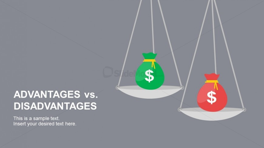Advantages vs. Disadvantages Weighing Scale For PowerPoint