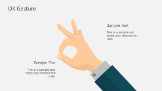 Editable OK Hand Gesture For PowerPoint
