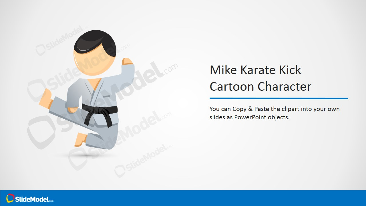 Karate mike characters karate martial arts powerpoint template mike karate kick powerpoint clipart toneelgroepblik