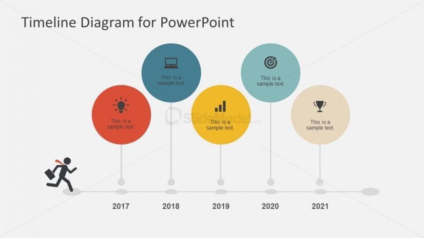 Balloon Timeline Diagram For Powerpoint Slidemodel