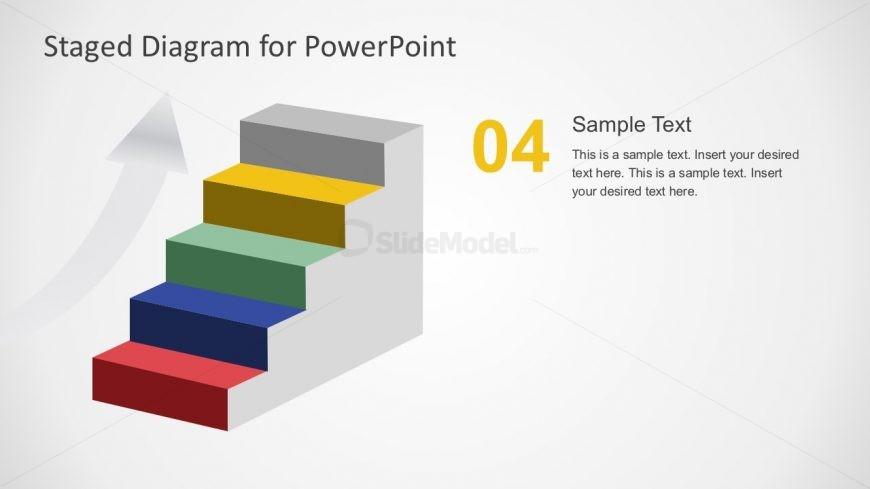5 steps staircase template for powerpoint slidemodel