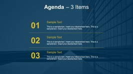 3 Point Meeting Agenda Slides