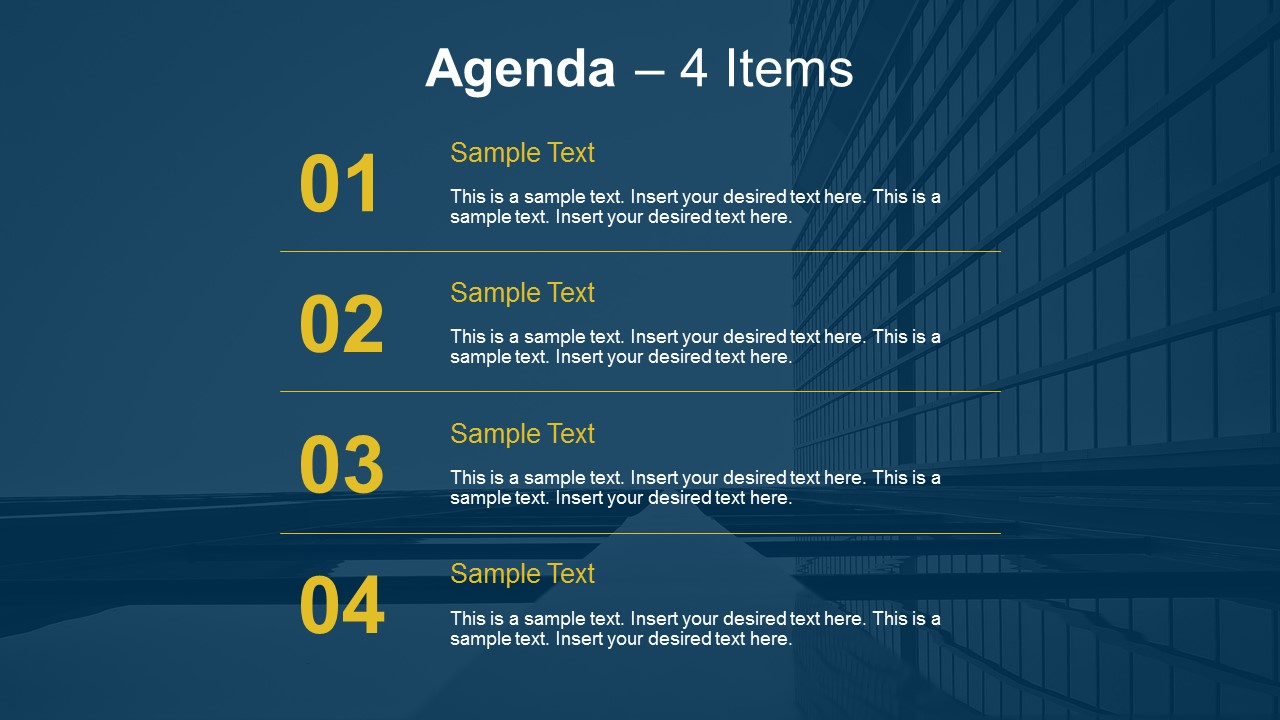 simple agenda slides for powerpoint