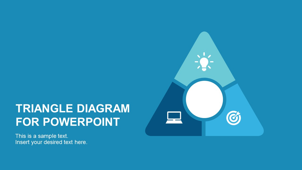 Round point flat triangle powerpoint diagram ccuart Choice Image