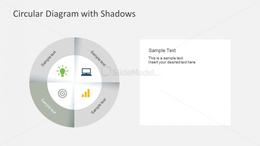 Grey Circular Diagram With Shadow Effect
