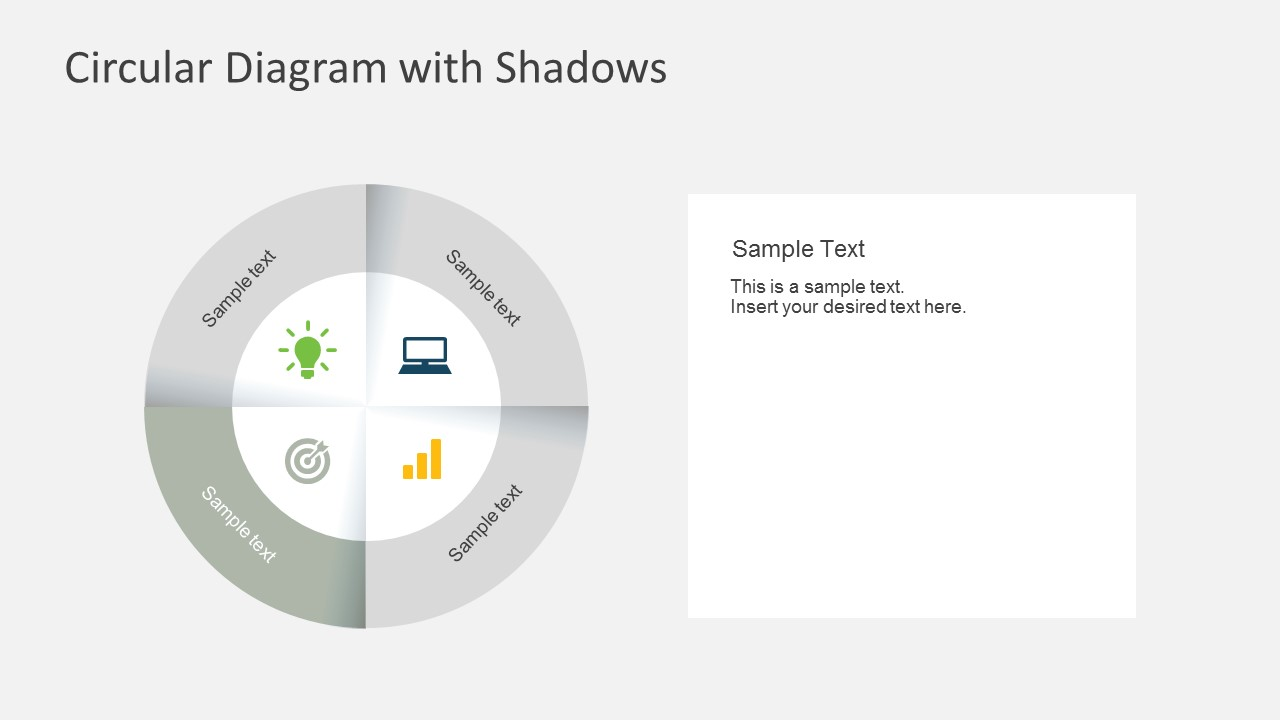4 Steps Circular Powerpoint Diagram With Shadows