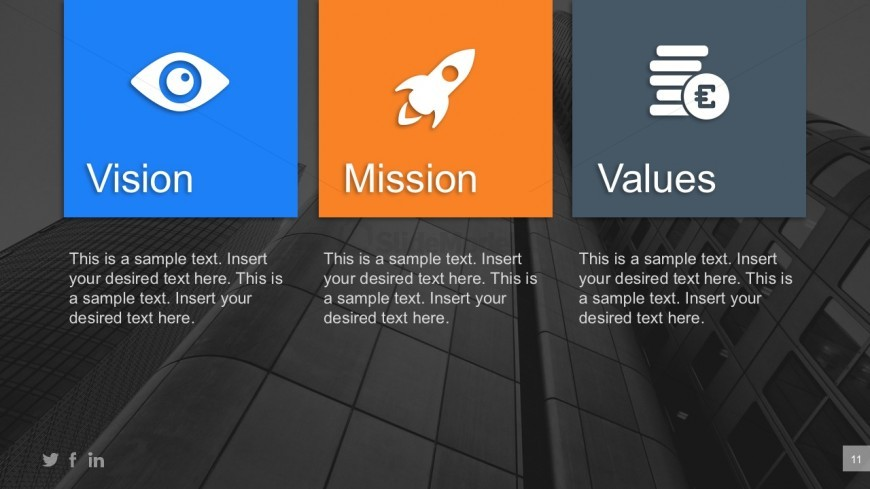 Company vision mission values powerpoint templates slidemodel company vision mission values powerpoint templates corporate annual data review for powerpoint toneelgroepblik Choice Image