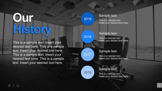Company History PowerPoint Template Design