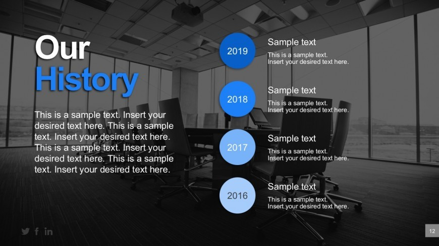 Business History Timeline Powerpoint Templates - Slidemodel