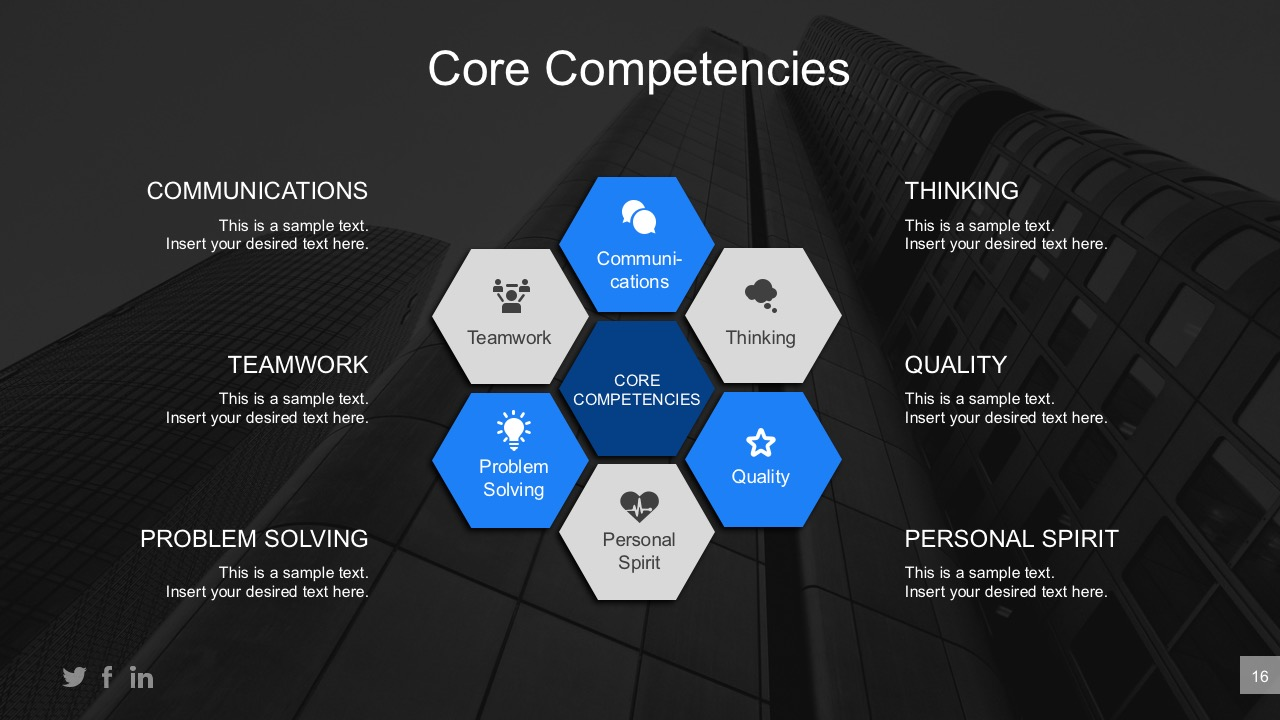 Business core competencies editable powerpoint diagram slidemodel wajeb Choice Image