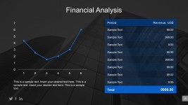 Company Cost Asset Analysis Line Graph PowerPoint
