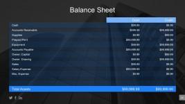 Editable Balance Statement PowerPoint Table Designs