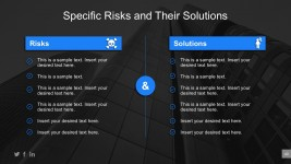 Business Specific Risks And Solutions Model For PowerPoint