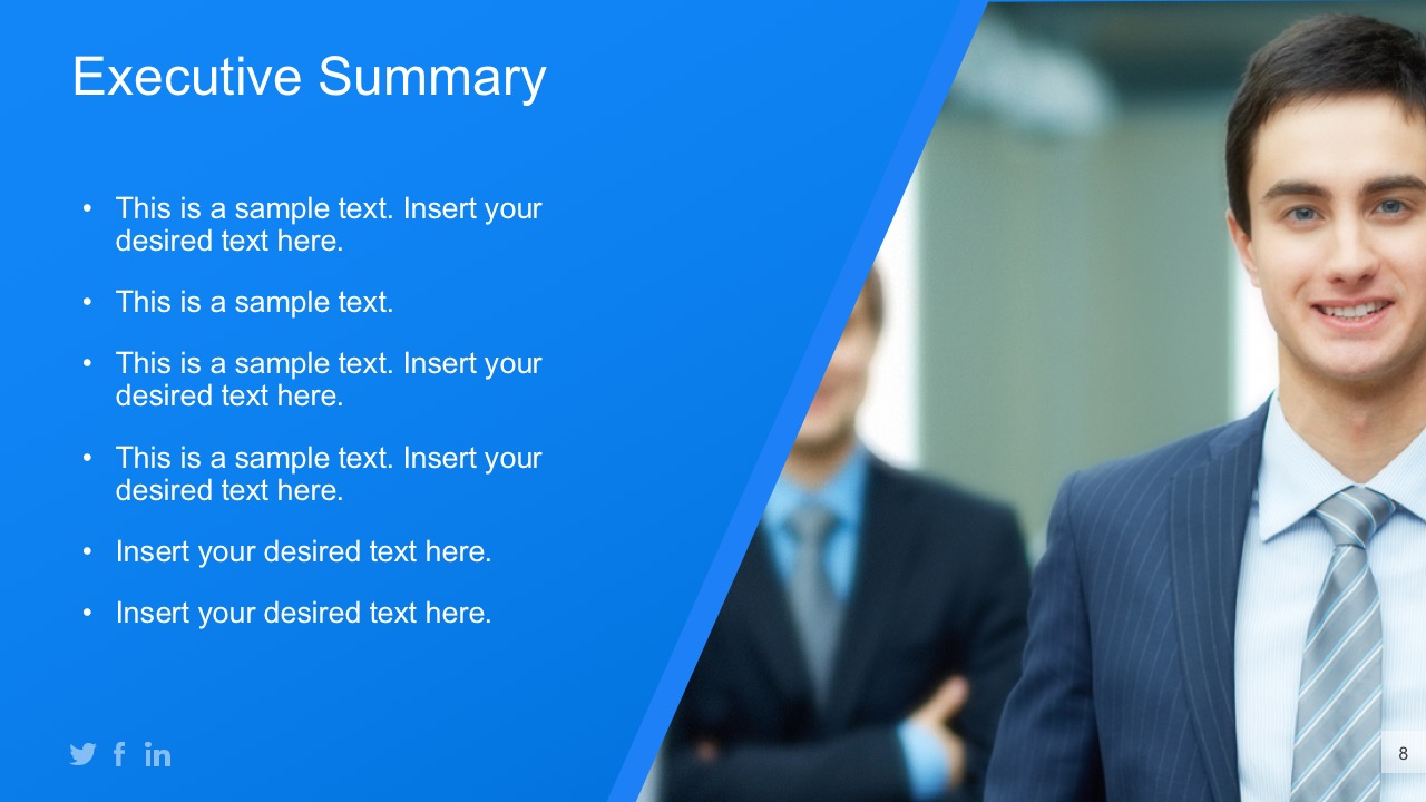 Executive Summary Report PowerPoint Templates