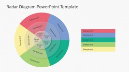 Radar Diagram PowerPoint With Shadow Effect
