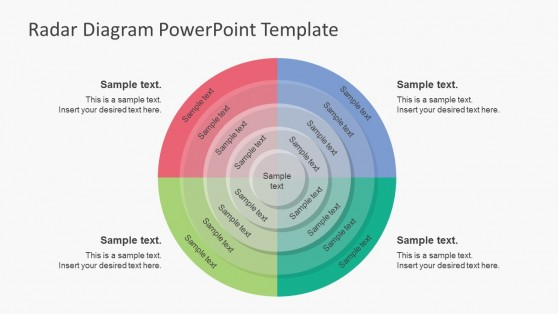 5 Segments Radar Diagram Business PowerPoint