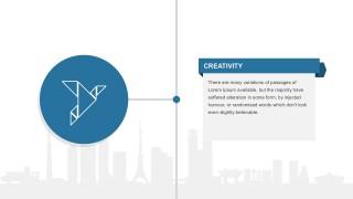 PowerPoint Creative Origami Bird Design
