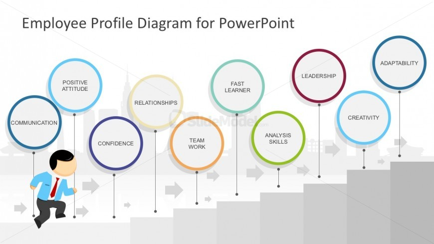 Running Mike PowerPoint Character Diagram