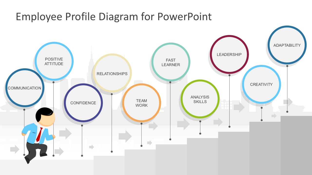 employee profile diagram powerpoint template