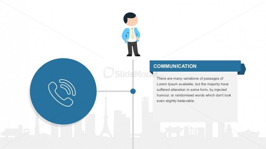 Phone Call PowerPoint Vector With Mike Character
