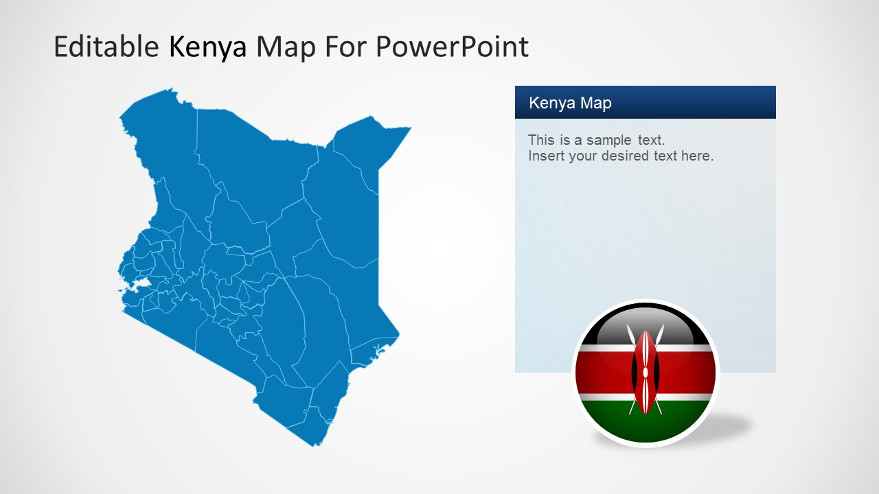 Editable kenya powerpoint map powerpoint map and icon flag of kenya toneelgroepblik Image collections