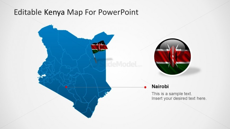 PowerPoint Map with Nairobi Sate Highlight
