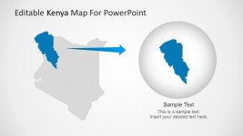 Kenya Map Region Highlight