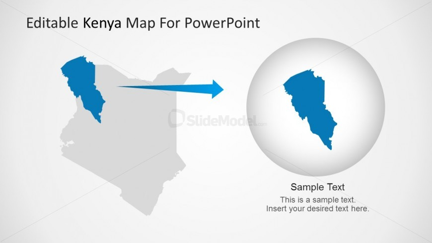 Kenya Map Turkana Region Highlight