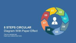 8 Steps Paper Effect Diagram With PowerPoint Icons