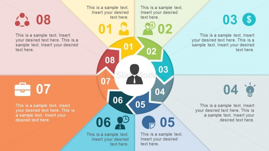 Editable Chevron Paper PowerPoint Templates