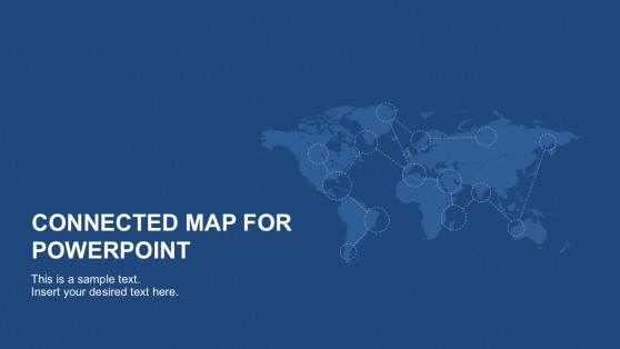 Connected maps powerpoint templates connected map powerpoint template toneelgroepblik Image collections