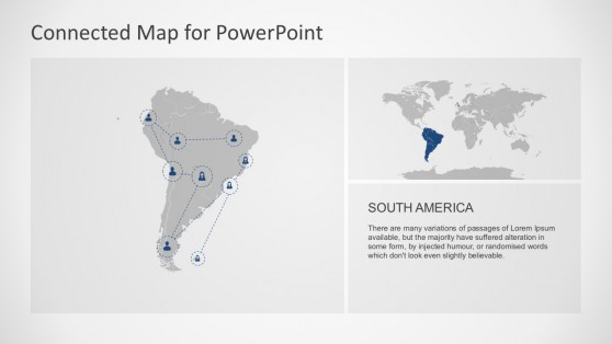 South America Geographical Map PowerPoint Slides