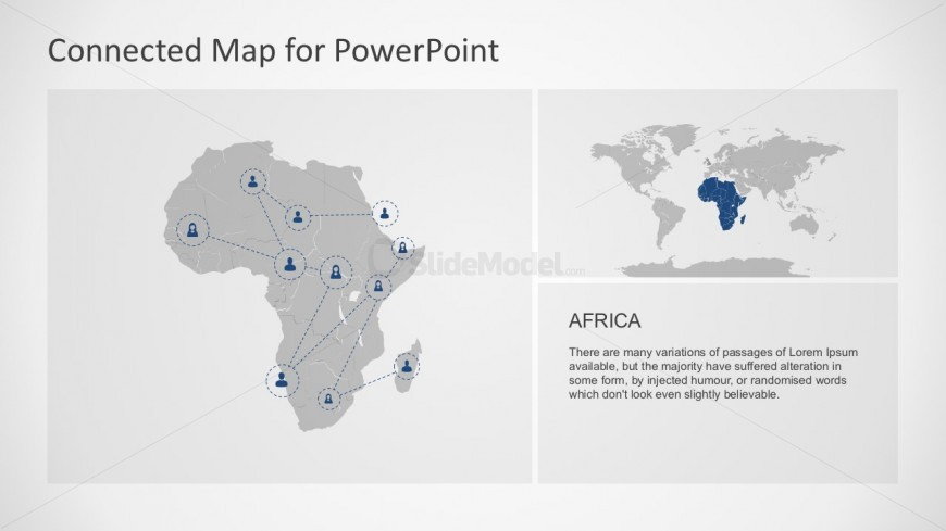 Land mass area for african continent powerpoint slidemodel land mass area for african continent powerpoint world continent map for africa slide templates toneelgroepblik Gallery
