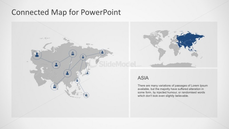 Asia Largest Continent Map PowerPoint Slides
