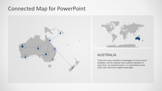 Australia Independent Continental Map PowerPoint