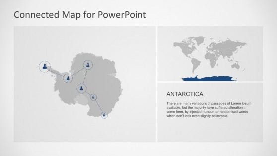 PowerPoint Antarctic Region Map Illustration Templates